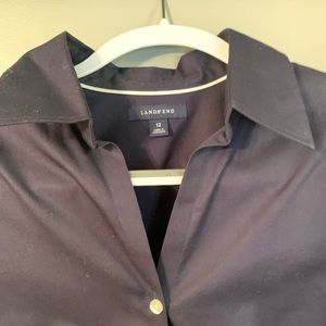 Lands' End Tops - Navy button down
